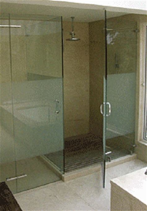Frosted Bar Top Frameless Shower Door With In Line Panel Artistcraft Com