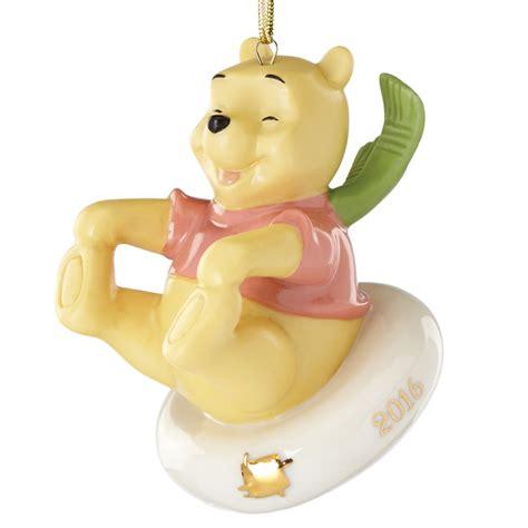 disney winnie the pooh ornament sledding fun with pooh