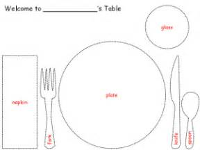 table setting template table setting paper craft