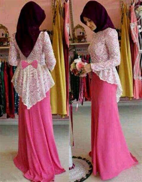 Maxi Pohon Dress Busana Muslim simple yet beautiful modern kebaya dress n dress