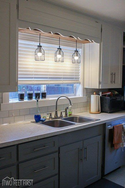 over the sink fluorescent light fixture diy pendant light sinks kitchens and lights