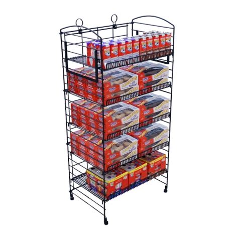 Bakery Display Rack by Bakery Display Racks Radius Top 5 Shelf Fold Up Display