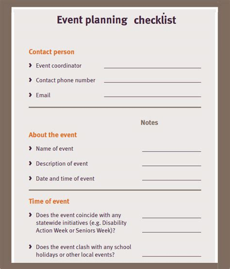 event planning checklist 11 free documents in pdf