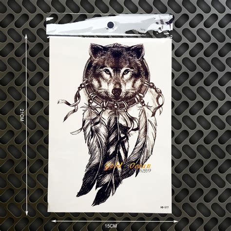henna tattoo wolf 3d king wolf temporary dreamcatcher designs