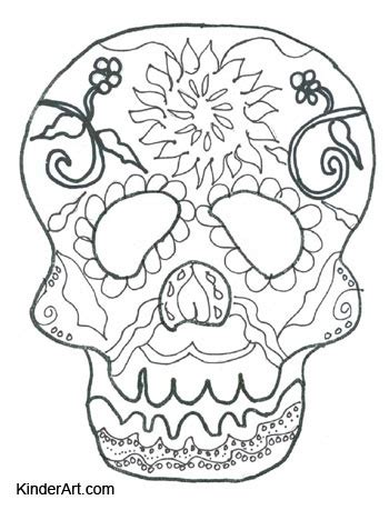 day of the dead calavera coloring page day of the dead calavera skull mask free halloween