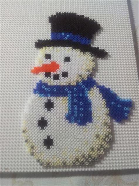 hama snowman winter snowman hama by pernille henriksen ideas