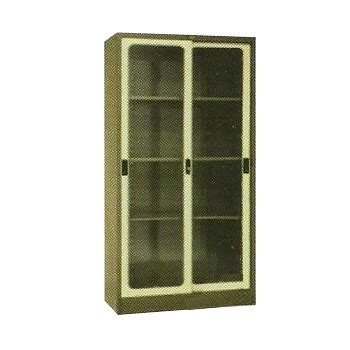 Daftar Lemari Arsip Kaca jual lemari arsip 2 pintu sliding kaca tinggi type el 438