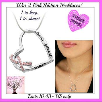 Pink Ribbon Giveaways - pink ribbon necklace giveaway think pink standstrong