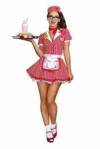 halloween costumes waitress car hop diner doll waitress retro 50s costume ebay