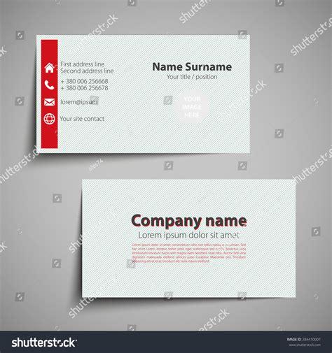 simple business card website template modern simple business card set template stock vector