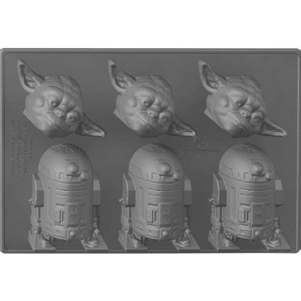 Cetakan Es Wars Millenium Falcon Cube Tray figuren cube wars yoda r2 d2 verschiedene figuren