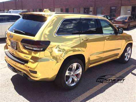 chrome gold gold chrome jeep grand srt8 vehicle
