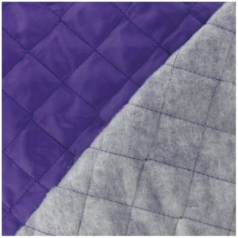 Quilted Polyester Fabric by Quilted Lining Fabric Purple X 10cm Ma Mercerie