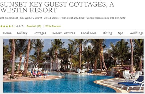Sunset Key Guest Cottages Westin Resort by Worst Value Starpoint Awards Category 7 Non Standard Room