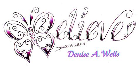 believe word tattoo designs believe design by a believe