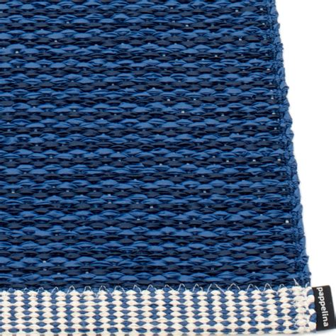 Blue Rug by Pappelina Mono Large Rug Blue Hus Hem