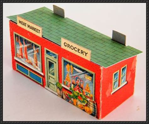 Papercraft Shops - vintage store free building paper model