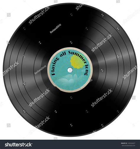 design a vinyl record label vinyl record with summer label design element layered