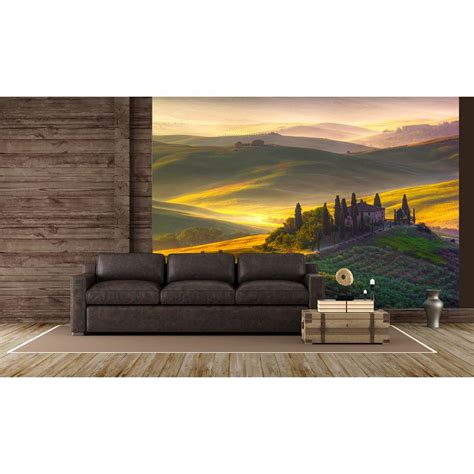 ideal decor wall murals ideal decor toscana scenic landscapes wall mural dm978