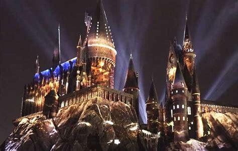 The Nighttime Lights At Hogwarts Castle Nighttime