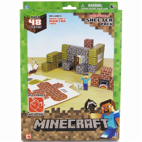 Minecraft Papercraft Set - minecraft paper craft 48 set ebay