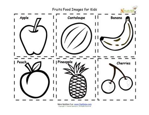 fruit food nutrition flash cards cut  printable  kids