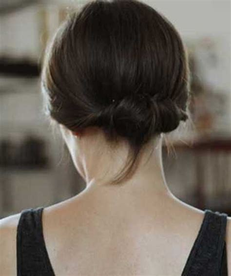 low bun with short hair cute buns for short hair the best short hairstyles for