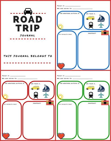printable road trip planner 25 best ideas about trip journal on pinterest travel