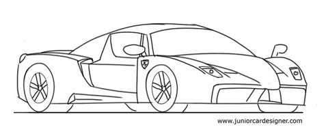 ferrari enzo sketch 58 best car drawing for kids images on pinterest cars