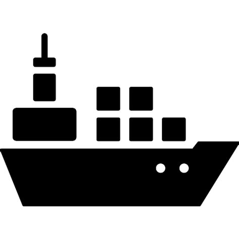 free boat icon boat with containers free transport icons