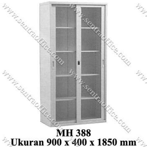 Lemari File Olympic jual lemari arsip tinggi pintu sliding kaca modera type mh