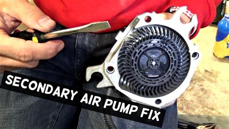 fix secondary air pump demonstrated  bmw youtube