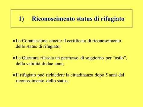 permesso di soggiorno status accoglienza e diritto di asilo ppt scaricare