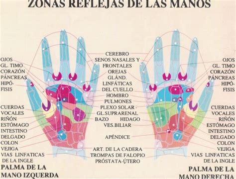 zonas reflejas reflexologia de mano reflexologia