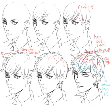 anime hairstyles guys tutorial 40 handy facial expression drawing charts for practice