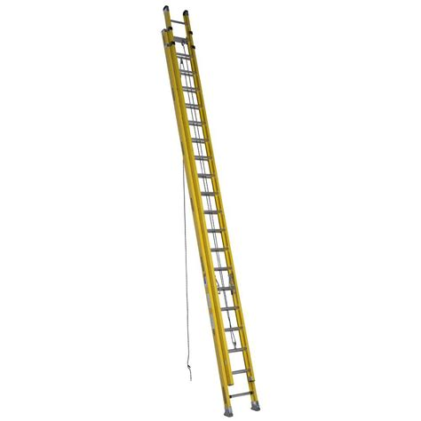 400 Lb Capacity Ladder by Werner 40 Ft Fiberglass D Rung Extension Ladder With 300