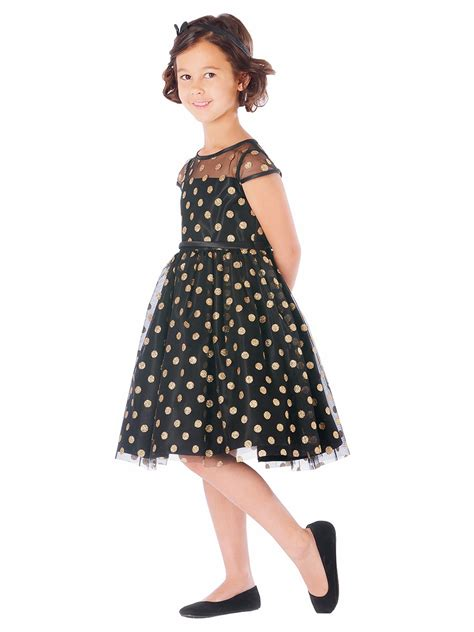 Polkadot Mesh Dress Et Cetera black glitter polka dot mesh dress