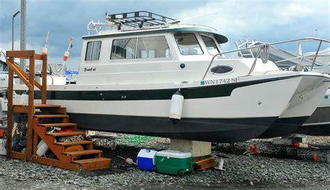 dory boat roof fs 2008 c dory tomcat catamaran with twin honda 135 s