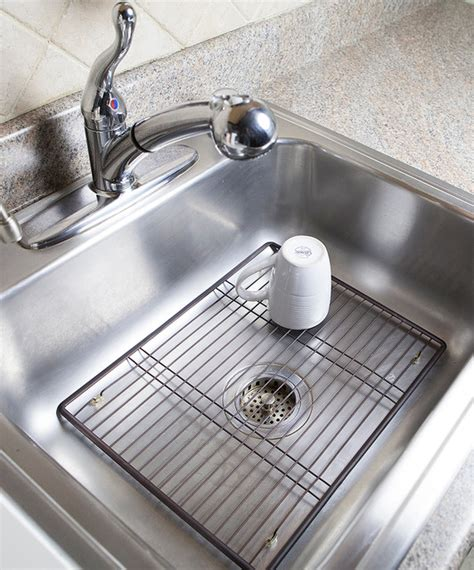 Kitchen Sink Protectors Large Bronze Sink Protector Modern Kitchen Sinks By Zulily