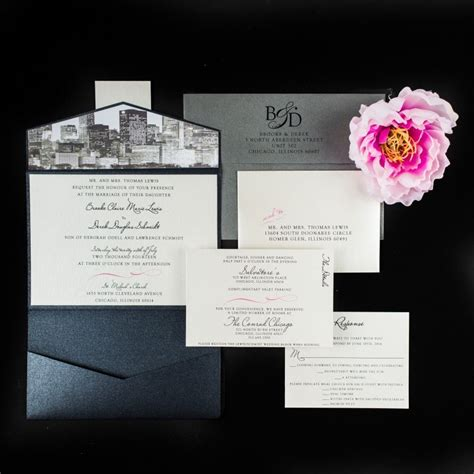 wedding invitations in chicago chicago skyline wedding invitations chic