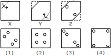 Folding Paper Math Problem - paper cutting non verbal reasoning questions and answers