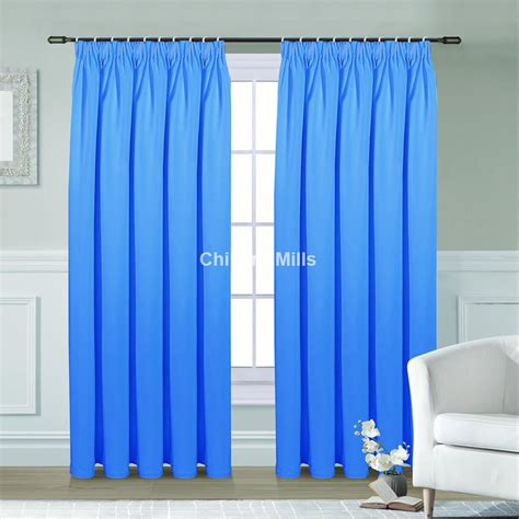 curtains blue light blue black out curtains chiltern mills