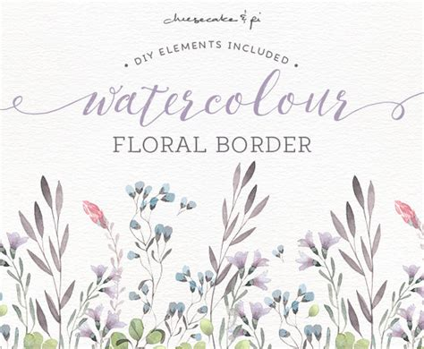 Wedding Border Png by Watercolor Floral Border Png Floral Clip Wedding