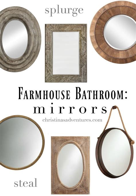 Bathroom Mirror Frame Ideas Farmhouse Bathroom Design Christinas Adventures
