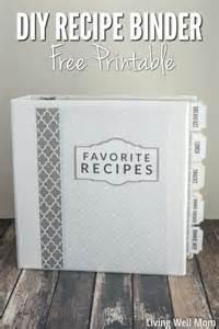 free recipe binder templates diy recipe binder with free printable downloads