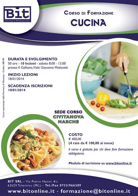 corsi cucina on line corso cucina civitanova marche
