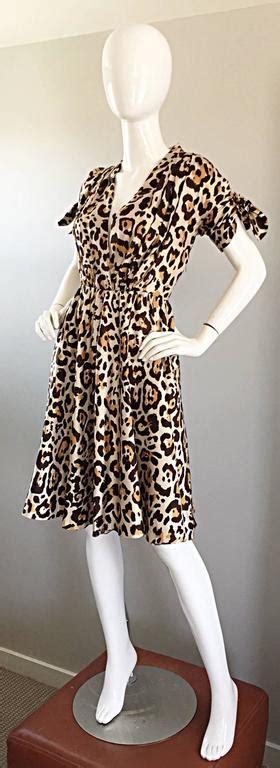 Id Leopard Cheongsam Dress galliano for christian leopard cheetah print