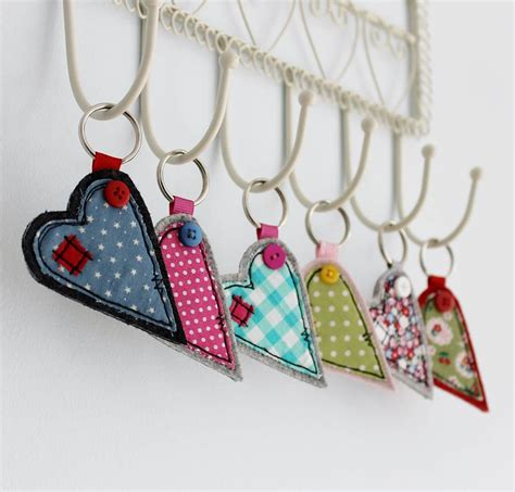Handmade Fabric Keyrings - fabric key ring by honeypips notonthehighstreet