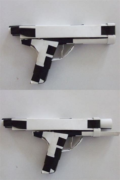 How To Make A Paper Shank - paper glock 12 by spine shank on deviantart