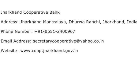 cooperative bank address jharkhand cooperative bank address contact number of